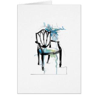 Hepplewhite Chair - Watercolor Card