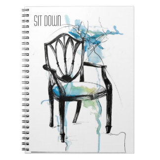 Hepplewhite Chair - Watercolor Notebook
