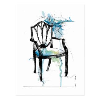 Hepplewhite Chair - Watercolor Postcard