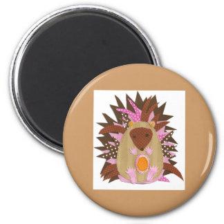 Hepsiba the Hedgehog 6 Cm Round Magnet