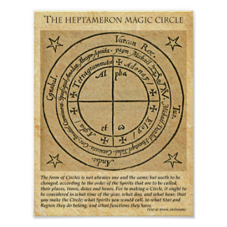 HEPTAMERON MAGICK CIRCLE POSTER