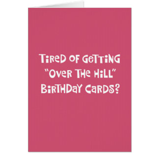 "Her 50th ""Over the Hill"" Birthday Card Humor"