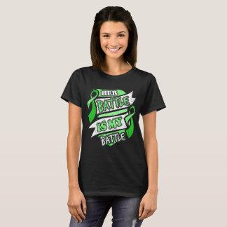 HER BATTLE IS MY BATTLE ADRENAL CANCER GIFT T-Shirt