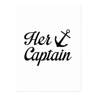Her Captain Postcard