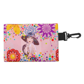 HER CLIP ON COSMETIC BAG-BEAUTIFUL BAG! ACCESSORY BAG