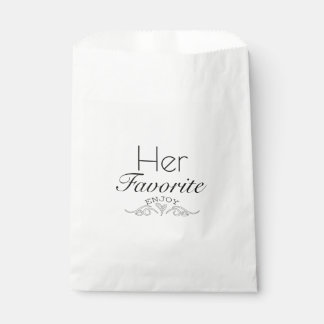 Her Favorite Favour Bags