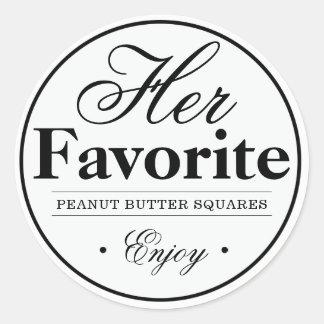 """""""Her Favorite"""" Wedding Favor Sticker"""