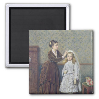 Her First Communion Square Magnet