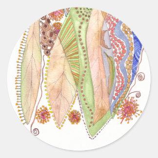 Her Jewelled Sea 2 Round Sticker