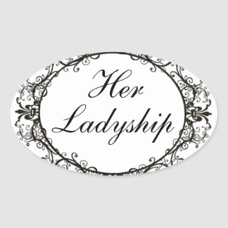 """Her Ladyship"" Vintage Label Stickers"