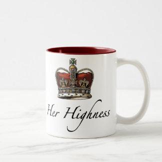 Her Majesty, Her Highness Two-Tone Coffee Mug