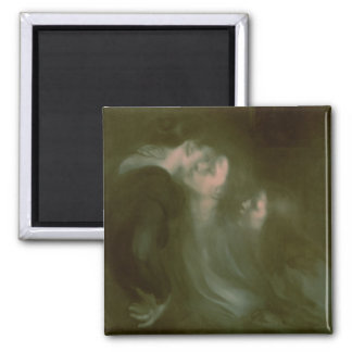 Her Mother's Kiss, 1890s Square Magnet