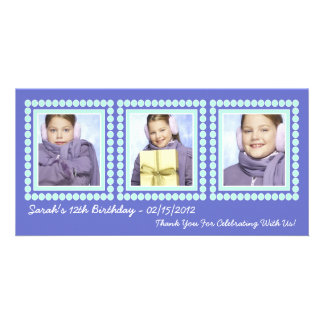 Her Photo in Lights Purple Birthday Diva Card