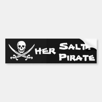 Her Salty Pirate Bumper Sticker