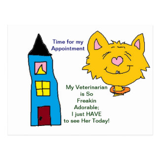 Her Veterinarian Appointment Cards Postcard
