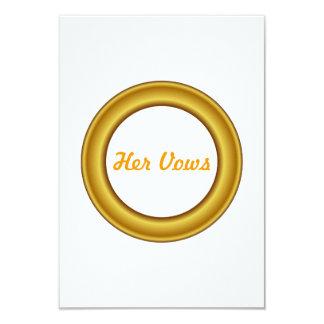 Her Vows Card 9 Cm X 13 Cm Invitation Card