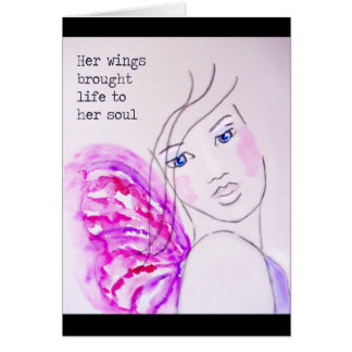 Her Wings Brought Life To Her Soul,  original art Card