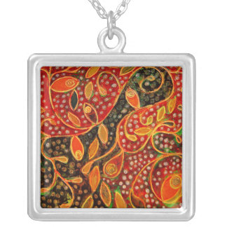 Her Winter Heart (painting) necklace