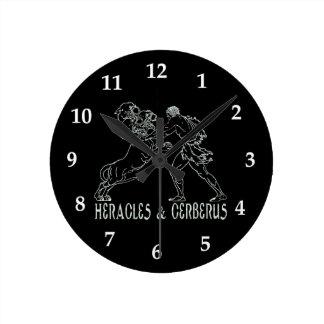 Heracles and Cerberus Clock