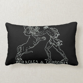 Heracles and Cerberus Throw Pillow