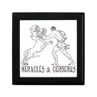 Heracles and Cerberus Trinket Boxes
