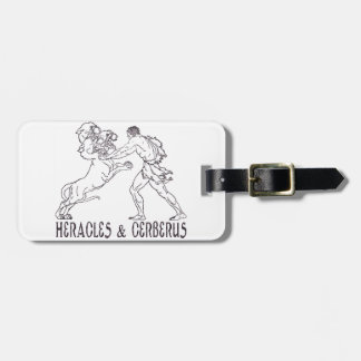 Heracles and Cerberus Tag For Luggage