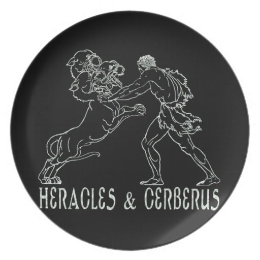 Heracles and Cerberus Party Plates