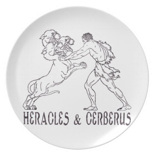 Heracles and Cerberus Party Plate