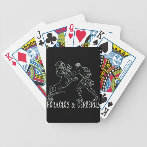 Heracles and Cerberus Bicycle Card Decks