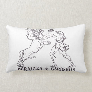 Heracles and Cerberus Throw Cushion