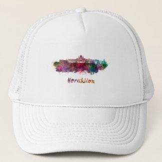 Heraklion skyline in watercolor trucker hat