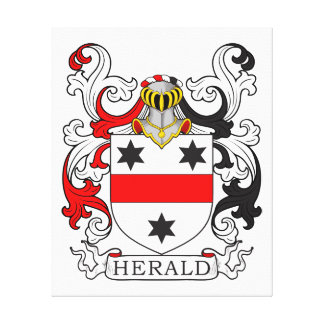 Herald Coat of Arms Stretched Canvas Prints