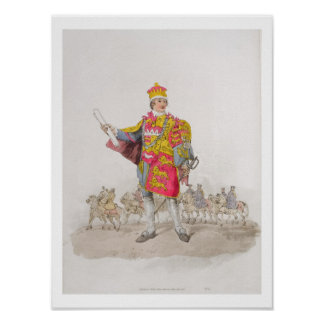 Herald, from 'Costume of Great Britain', published Poster