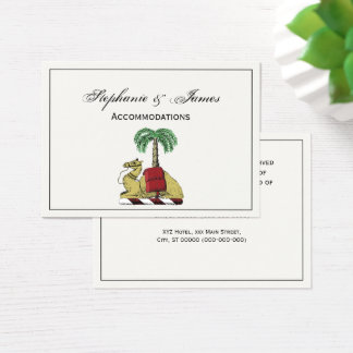 Heraldic Camel Palm Tree Color Coat of Arms Business Card