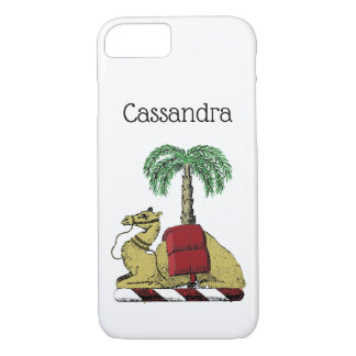 Heraldic Camel Palm Tree Color Coat of Arms iPhone 8/7 Case