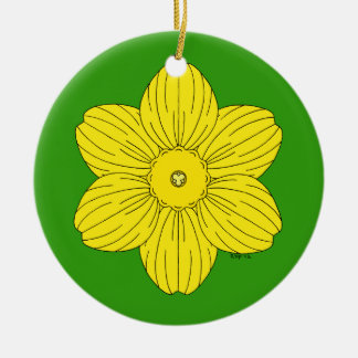 Heraldic Daffodil Ceramic Ornament