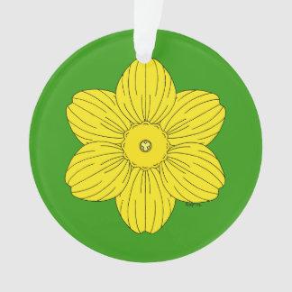 Heraldic Daffodil Ornament