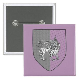Heraldic Griffin Coat of Arms 15 Cm Square Badge