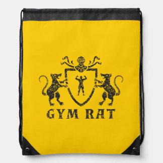 Heraldic Gym Rat Drawstring Backpack