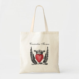 Heraldic Heart with Wings Coat of Arms Crest Tote Bag
