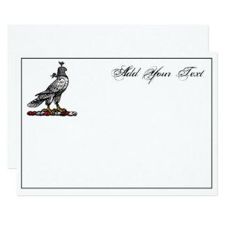 Heraldic Hunting Falcon Wearing Helmet Hood C Card