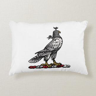Heraldic Hunting Falcon Wearing Helmet Hood C Decorative Cushion