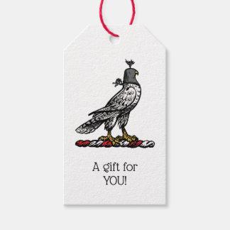 Heraldic Hunting Falcon Wearing Helmet Hood C Gift Tags