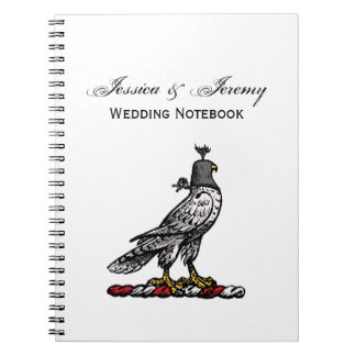 Heraldic Hunting Falcon Wearing Helmet Hood C Spiral Notebook