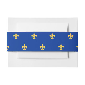 Heraldic Lilly Invitation Belly Band