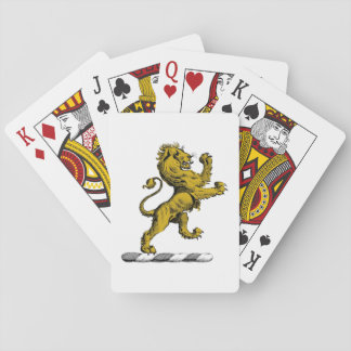 Heraldic Lion Standing Crest Emblem C Playing Cards