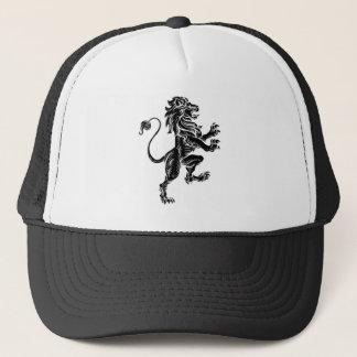 Heraldic Lion Standing Rampant On Hind Legs Trucker Hat