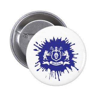 Heraldic Mandrills Splash Ink - Button