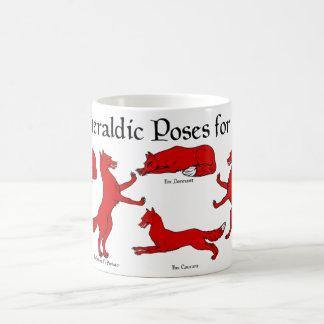Heraldic Poses for Foxes Basic White Mug