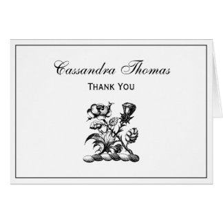 Heraldic Rose & Thistle Coat of Arms Crest Emblem Card